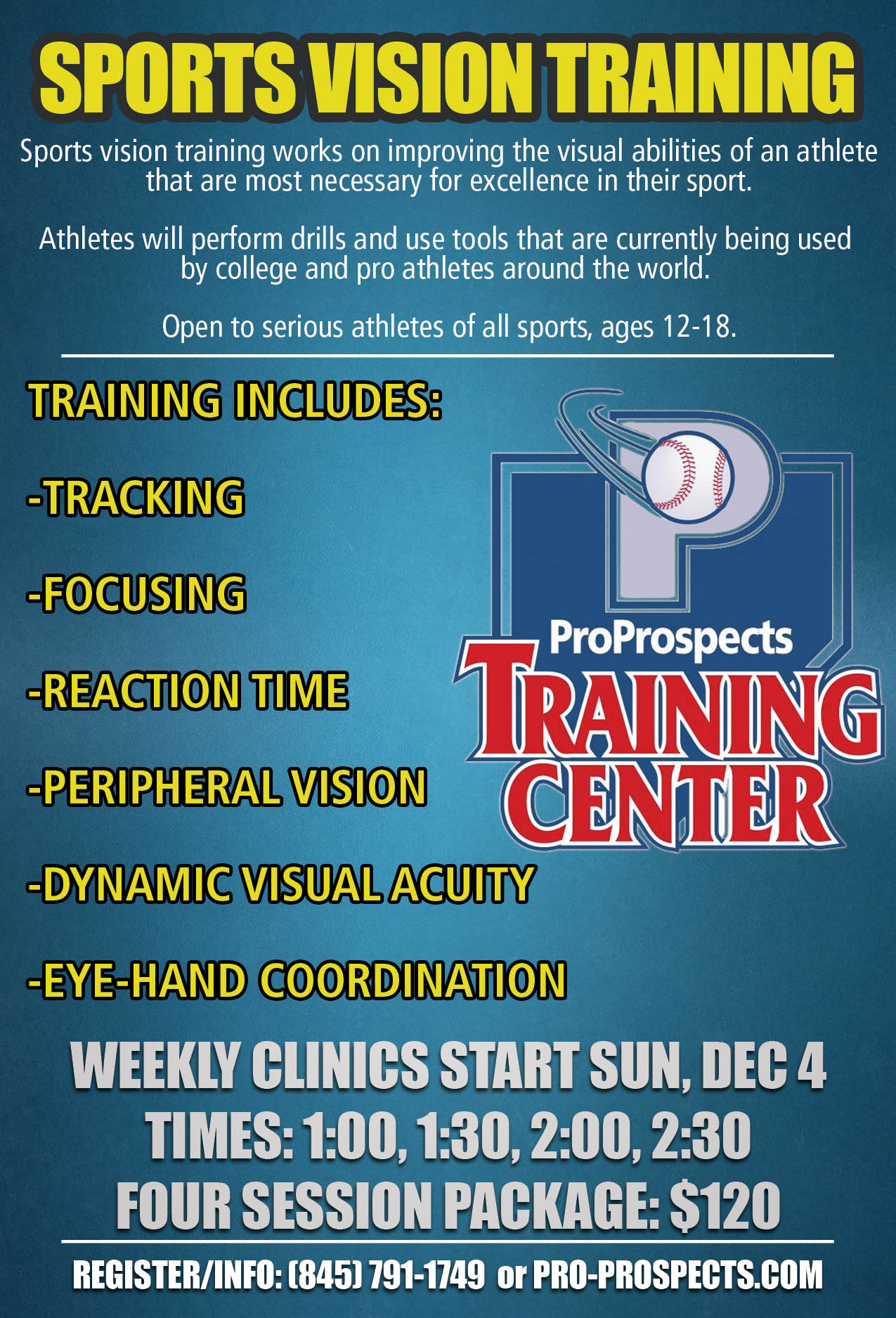 Pro Prospects Fall Winter Clinic Flyer