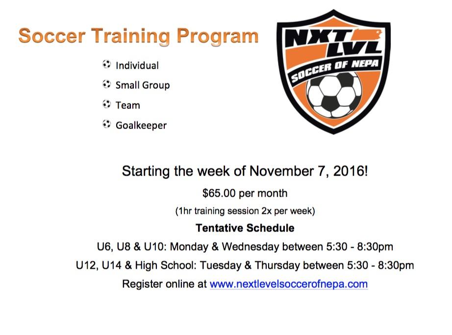 soccer training flyer